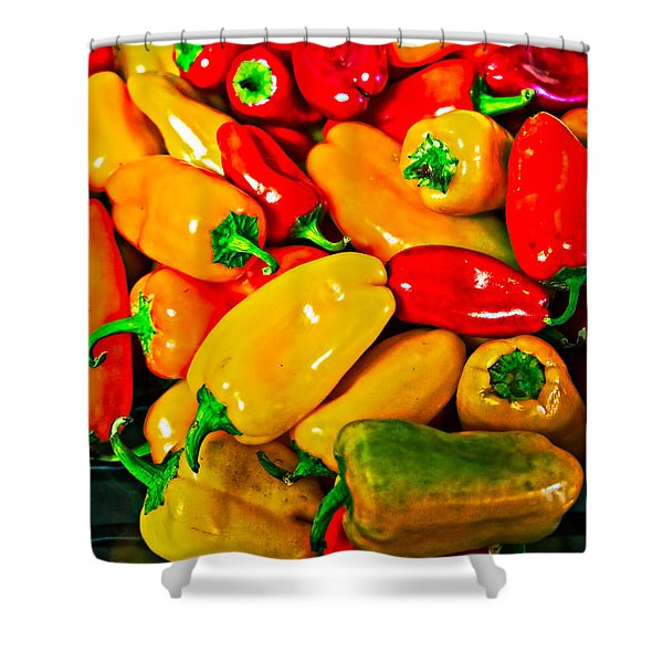Hot Red Peppers Shower Curtain