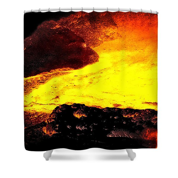 Hot Rock And Lava Shower Curtain
