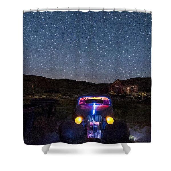 Hot Rod Nights Shower Curtain