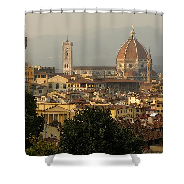 Hot Summer Afternoon In Florence Italy Shower Curtain