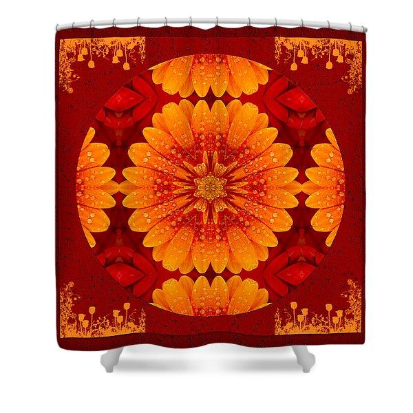 Hot Tropical Zen Shower Curtain
