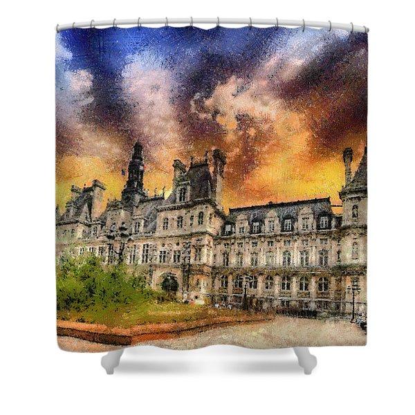 Sunset At The Hotel De Ville Shower Curtain