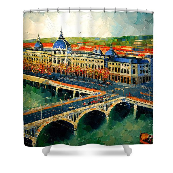 Hotel Dieu De Lyon II Shower Curtain