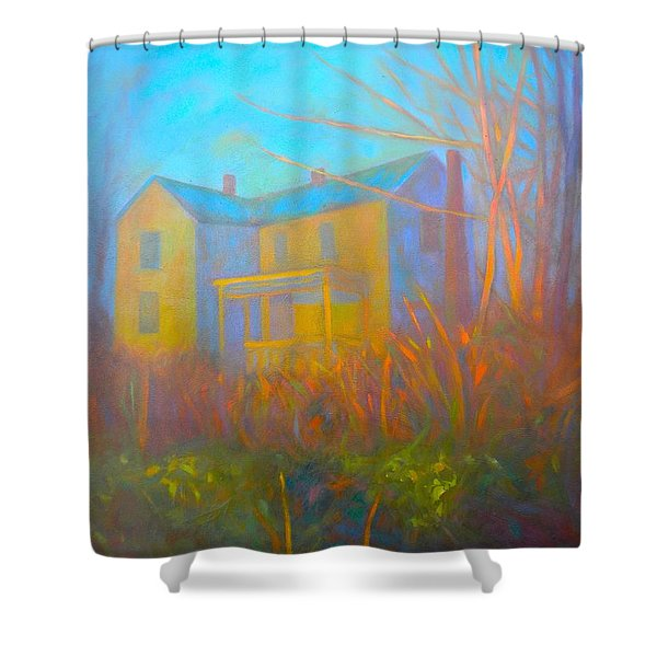 House In Blacksburg Shower Curtain