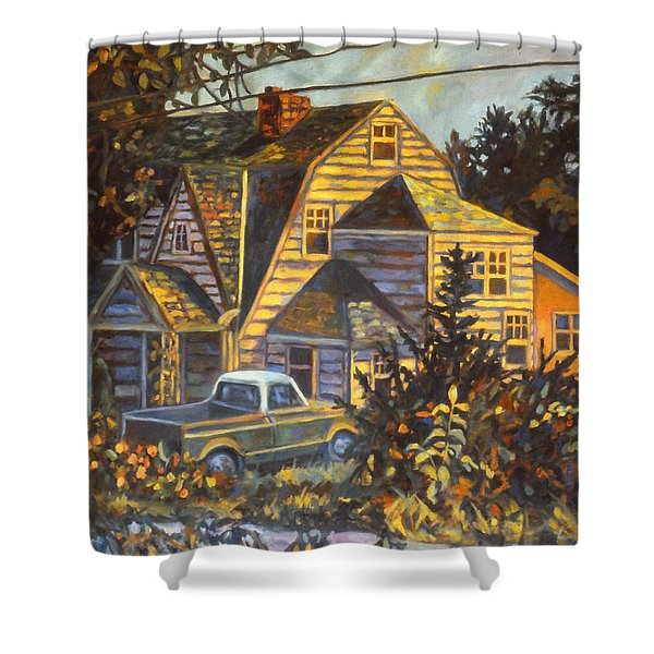 House In Christiansburg Shower Curtain