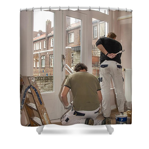 House Painters At Work Shower Curtain