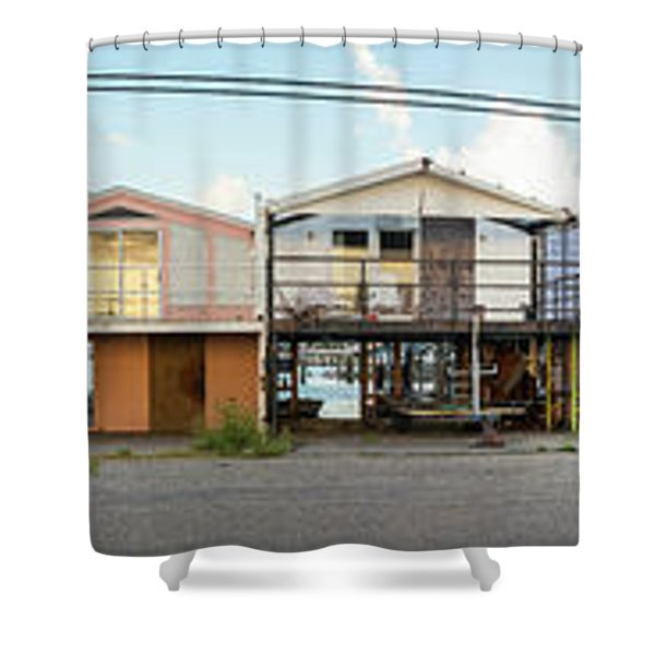Houses Destroyed After Hurricane Shower Curtain
