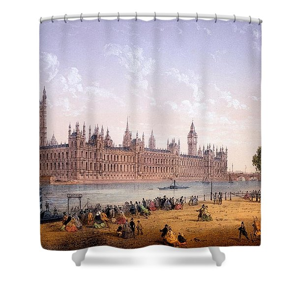Houses Of Parliament From The South Shower Curtain