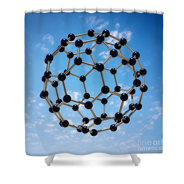 Hovering Molecule Shower Curtain