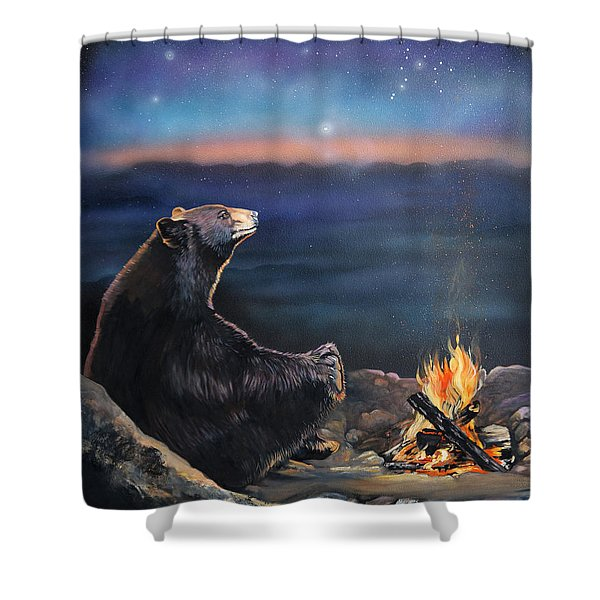 How Grandfather Bear Created The Stars Shower Curtain