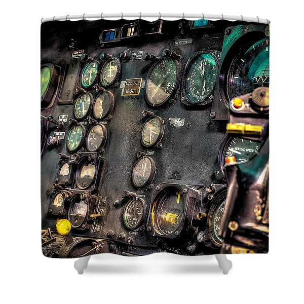 Huey Instrument Panel Shower Curtain