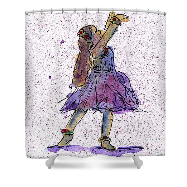 Hula Series Lokelani Shower Curtain