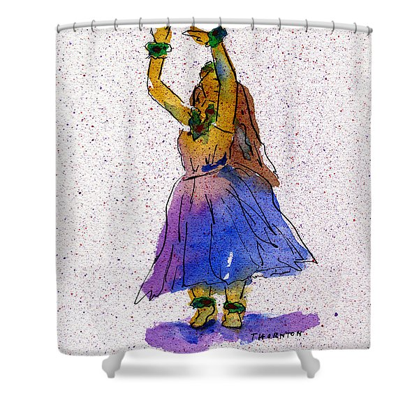 Hula Series Melika Shower Curtain