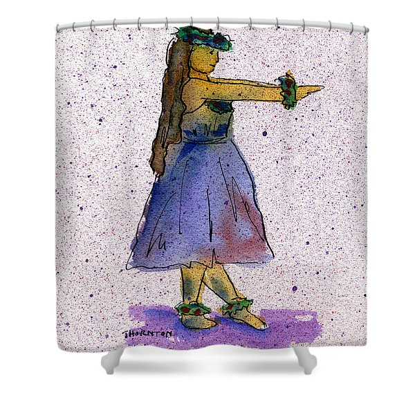 Hula Series Nakine Shower Curtain