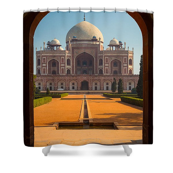 Humayun's Tomb Archway Shower Curtain