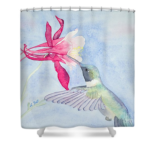 Hummingbird And Columbine Shower Curtain