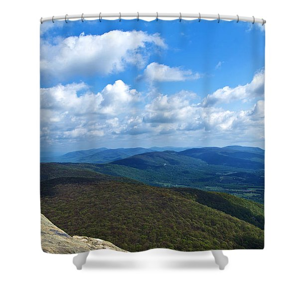 Shower Curtain featuring the photograph Humpback Rocks View North by Jemmy Archer