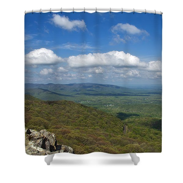 Shower Curtain featuring the photograph Humpback Rocks View South by Jemmy Archer