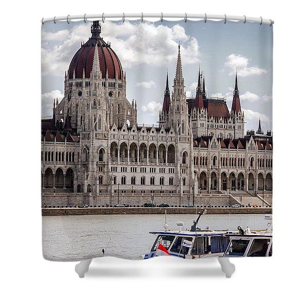 Hungarian Parliament Across The Danube Shower Curtain