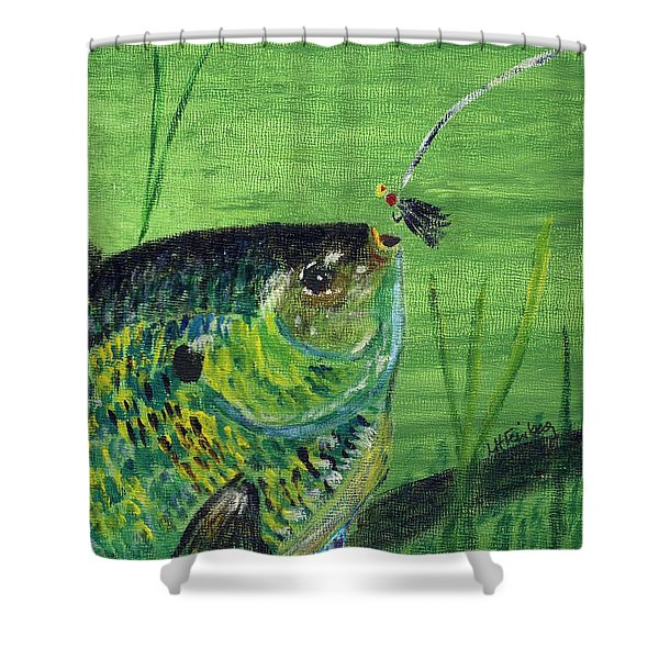 Hungry Bluegill Shower Curtain