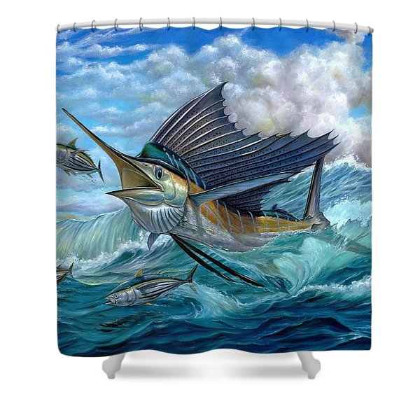 Hunting Sail Shower Curtain