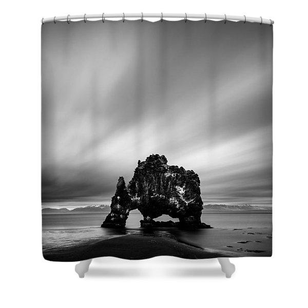 Hvitserkur Shower Curtain
