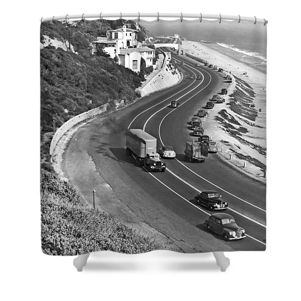 Hwy 101 In Southern California Shower Curtain
