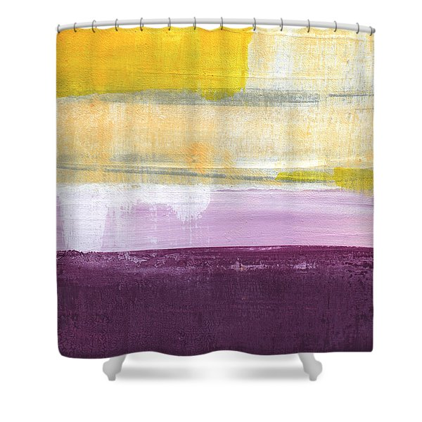 Hydrangea Two - Abstract Painting Shower Curtain