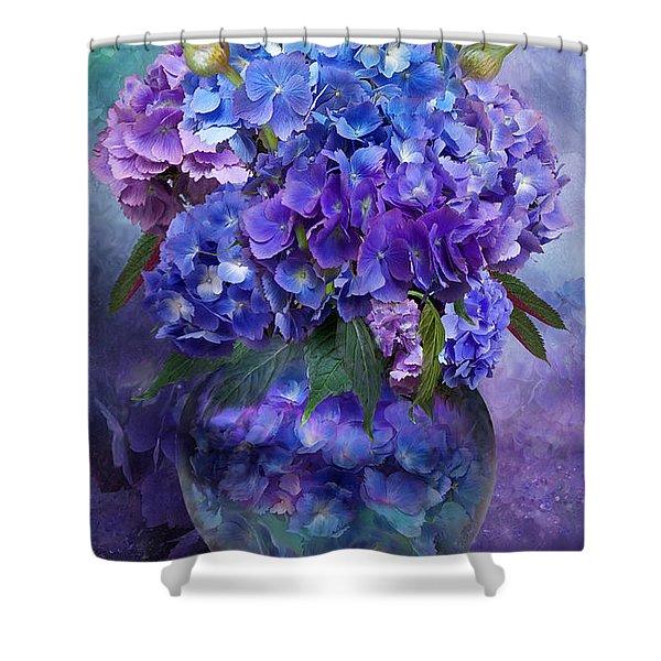 Hydrangeas In Hydrangea Vase Shower Curtain