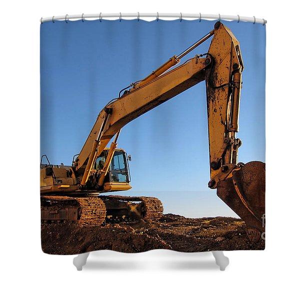 Hydraulic Excavator Shower Curtain