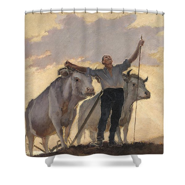 Hymn Of The Earth To The Sun Shower Curtain