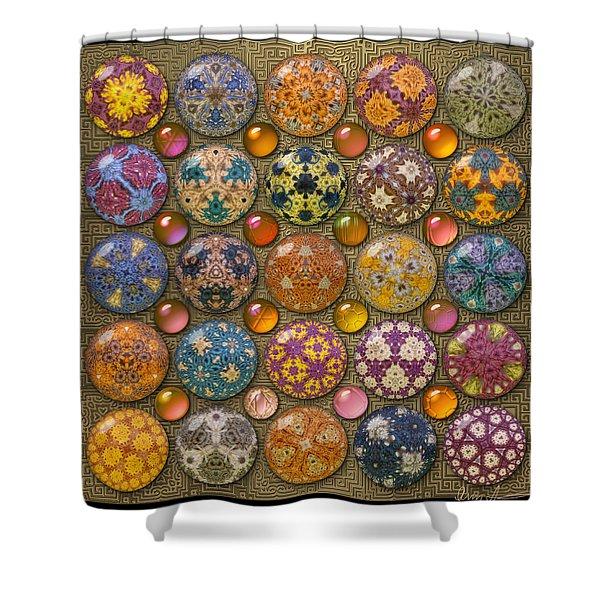 Hyperbolicrochet Kaleidoscope Quilt Shower Curtain