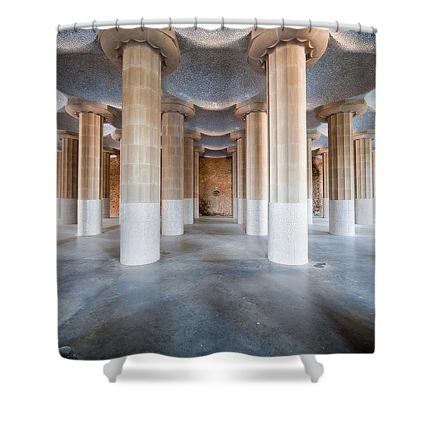 Hypostyle Room In Park Guell Shower Curtain