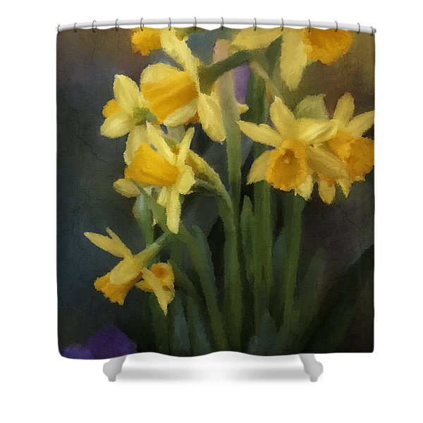 I Believe - Flower Art Shower Curtain