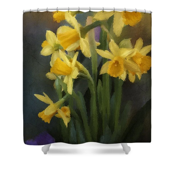 I Believe - Flower Art Shower Curtain