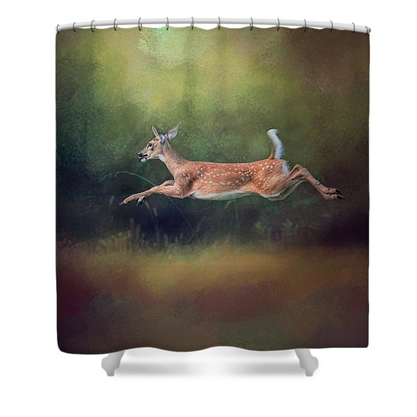 I Can Fly - Deer - Wildlife Shower Curtain