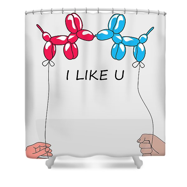I Like You 2 Shower Curtain