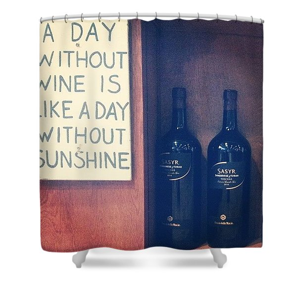 A Day Without Wine Shower Curtain
