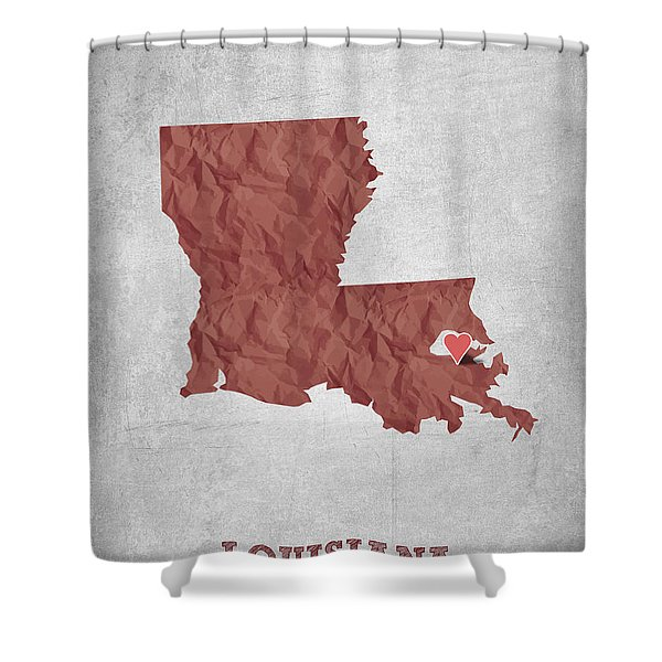 I Love New Orleans Louisiana - Red Shower Curtain