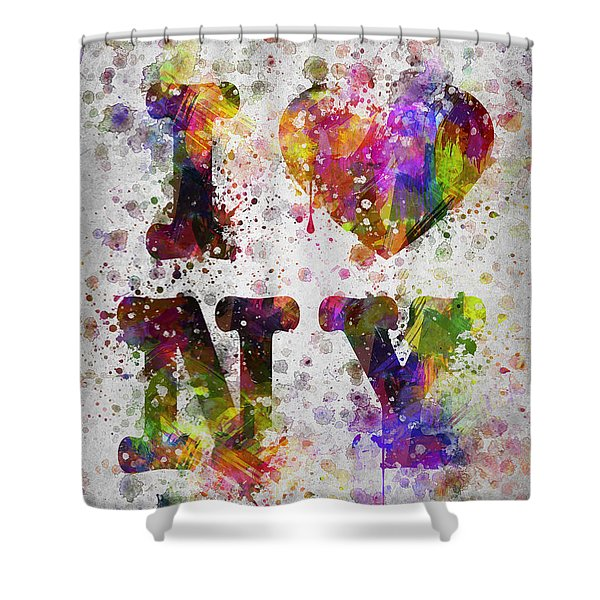 I Love New York In Color Shower Curtain