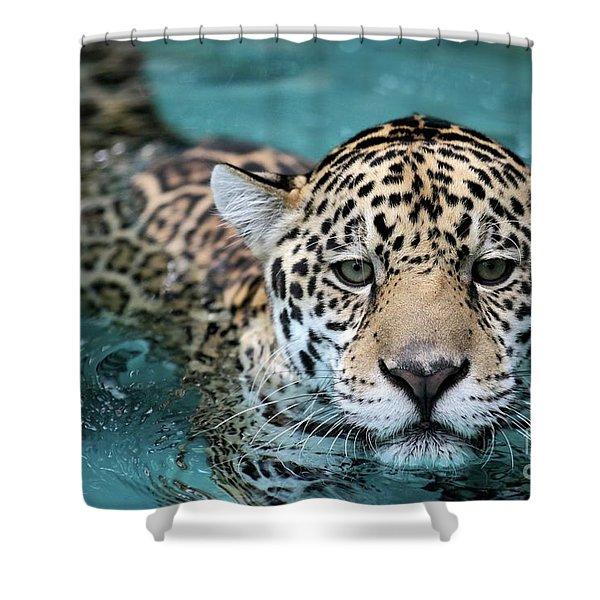 I Love The Water Shower Curtain