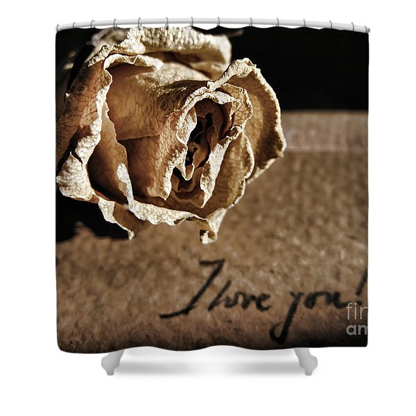 I Love You Letter Shower Curtain