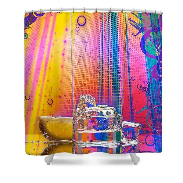 Ice-1 Shower Curtain