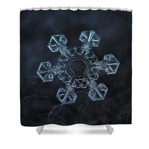 Snowflake Photo - Ice Crown Shower Curtain
