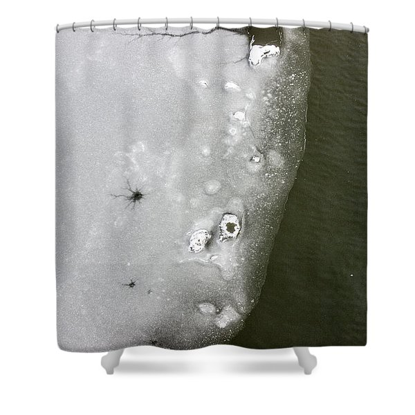 Ice In The River 2 Shower Curtain