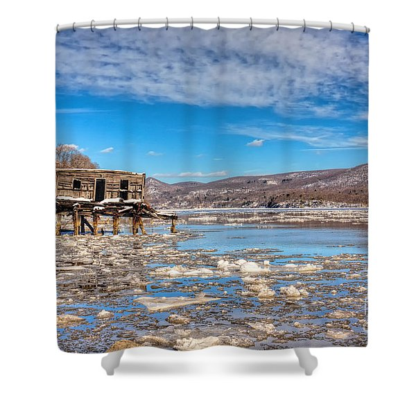 Ice Shack Shower Curtain