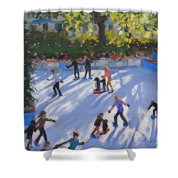 Ice Skating Shower Curtain