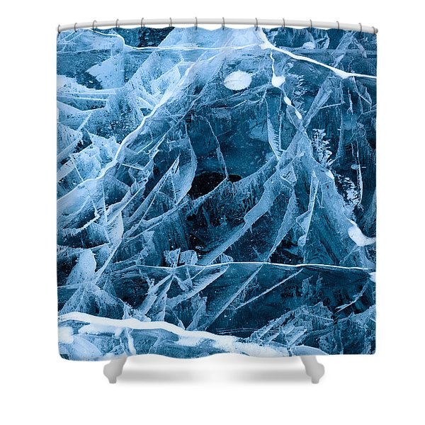 Ice Triangle Shower Curtain
