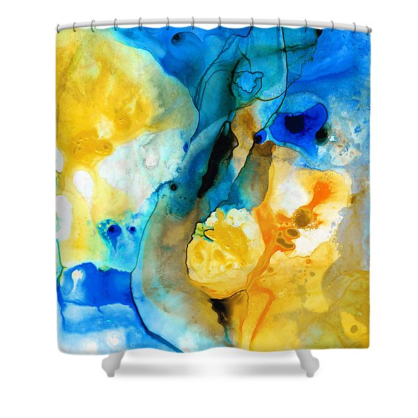 Iced Lemon Drop - Abstract Art By Sharon Cummings Shower Curtain