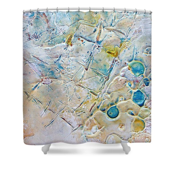 Iced Texture I Shower Curtain